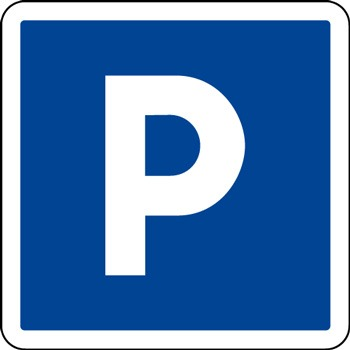 Panneau indication parking C1a