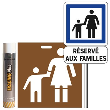 Pack signalisation place de parking famille