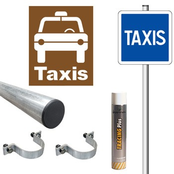 Pack signalisation station de taxis