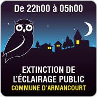 Panneau extinction de l' éclairage public