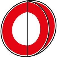 Panneau interdiction avec volet 2 symboles type B