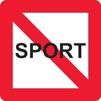 Panneau fluvial interdit plaisance et sport A13