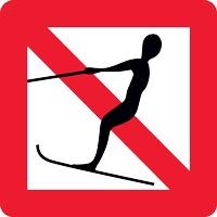 Panneau fluvial interdiction ski nautique A14