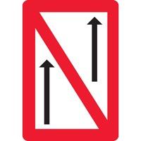 Panneau fluvial interdiction de dépasser A2