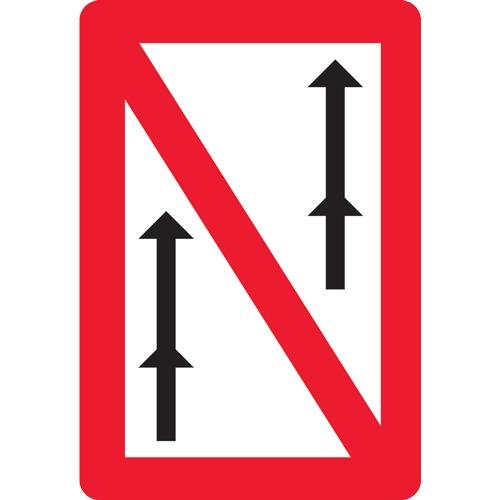 panneau fluvial interdiction de d passer en convois a3. Black Bedroom Furniture Sets. Home Design Ideas