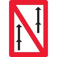 Panneau fluvial interdiction de dépasser en convois A3