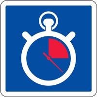 Panneau de signalisation arrêt minute