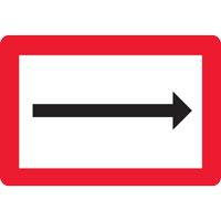 Panneau fluvial direction par la flèche B1