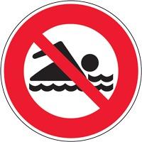 Panneau de signalisation baignade interdite