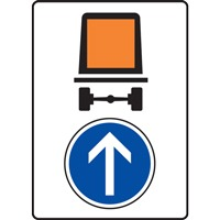 Panneau indication limitation tunnel C117 B21b