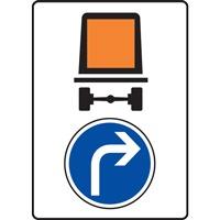 Panneau indication limitation tunnel C117 B21c1