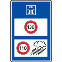 Panneau indication vitesse sur autouroute C25b ex. 1
