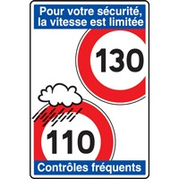 Panneau indication limite vitesse autouroute C25b ex. 2