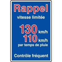 Panneau indication limite vitesse autouroute C25b ex. 3
