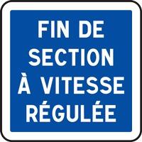 Panneau indication fin section vitesse régulée C51b