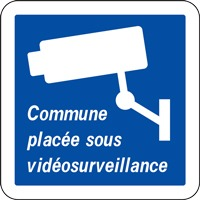 Panneau commune placée sous vidéosurveillance