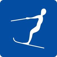 Panneau fluvial pratique du ski nautique E17