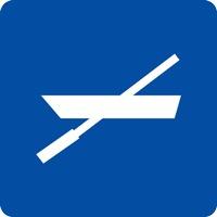 Panneau fluvial zone embarcations non motorisées E19