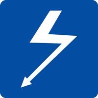 Panneau fluvial croisement câble électrique E2