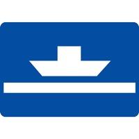 Panneau fluvial bac naviguant pas librement E4a