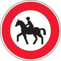 Panneau interdiction aux cavaliers