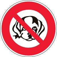 Panneau interdiction aux chiens (modèle AC2)