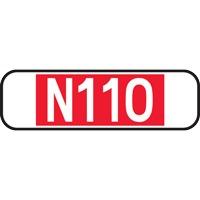 Panonceau numéro de route ou autoroute M10a