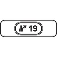 Panonceau numéro échangeur M10b