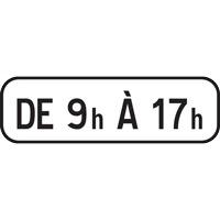 Panonceau plage horaire M11b1