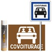Pack signalisation place de parking de covoiturage