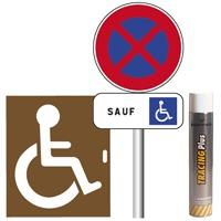 pack signalisation place de parking handicap. Black Bedroom Furniture Sets. Home Design Ideas