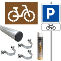 Pack signalisation place de parking vélo