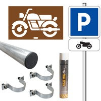 Pack signalisation place de parking moto