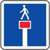 Panneau indication impasse sauf piétons C13c