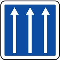Panneau indication 3 voies C24a