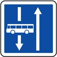 Panneau indication affectation de voies C24a ex.4