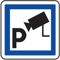 Panneau indication parking sous vidéosurveillance CE9