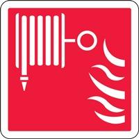 Panneau de signalisation lance à incendie