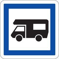 Panneau de signalisation camping car (modèle 1)