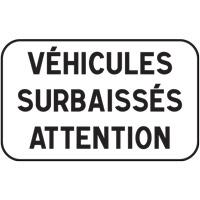 Panonceau véhicules surbaissés M9i