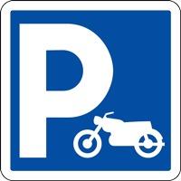 Panneau de signalisation parking pour motos