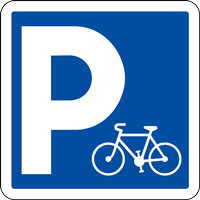 Panneau de signalisation parking pour vélos