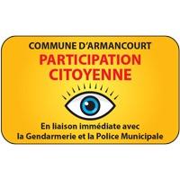 Panneau participation citoyenne avec nom (modèle 1)