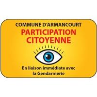 Panneau participation citoyenne avec nom (modèle 2)