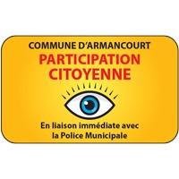 Panneau participation citoyenne avec nom (modèle 3)