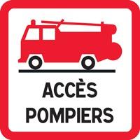 Panneau de signalisation accès pompiers