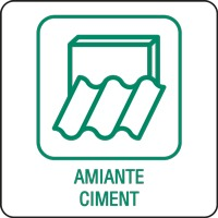 Panneau déchetterie amiante ciment