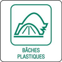 Panneau déchetterie bâches plastiques