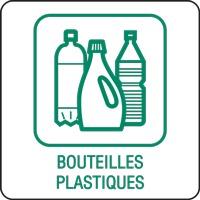 Panneau déchetterie bouteilles plastiques