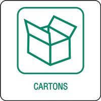 Panneau déchetterie cartons